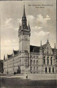 Ak Braunschweig in Niedersachsen, Neues Rathaus