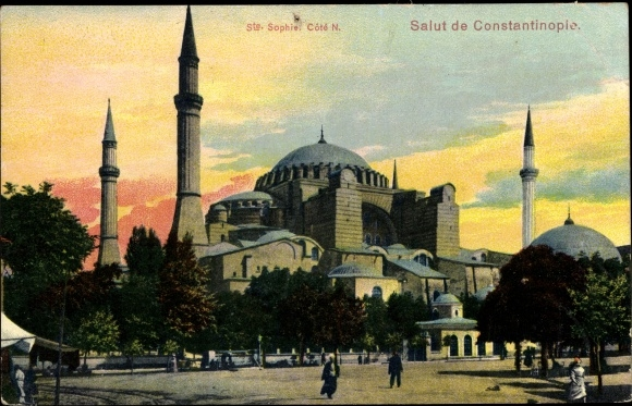 Ak Konstantinopel Istanbul Türkei, Sainte Sophie, Hagia Sophia