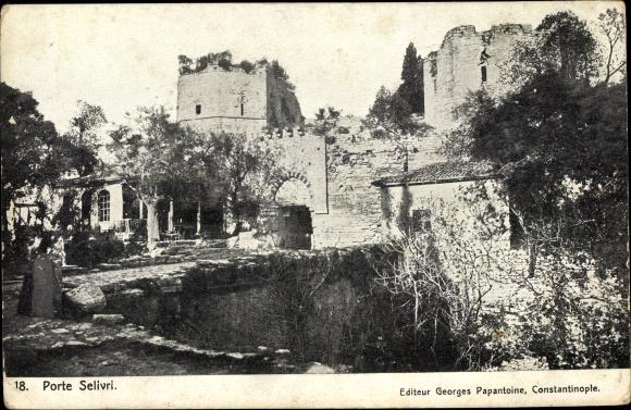 Ak Silivri Konstantinopel Istanbul Türkei, Porte, Ruine