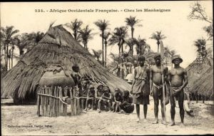 Ak Afrique occidentale francaise, Chez les Mankaignes, Afrikaner