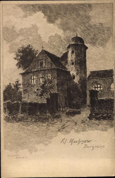 Künstler Ak Jander, Carl, Kleinmachnow in Brandenburg, Burgruine