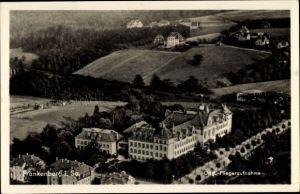 Ak Frankenberg an der Zschopau Sachsen, Fliegeraufnahme, Teilansicht der Stadt