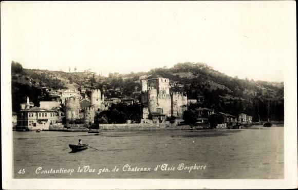 Ak Konstantinopel Istanbul Türkei, Vue generale de Chateaux d'Asie Bosphore