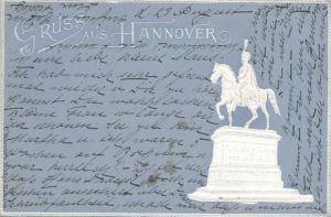 Präge Passepartout Ak Hannover in Niedersachsen, Kaiser Wilhelm Denkmal, Gesamtansicht