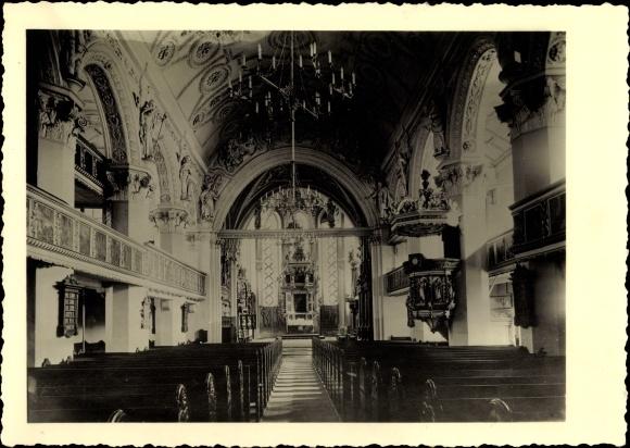 Foto Ak Celle in Niedersachsen, Stadtkirche, Innenansicht