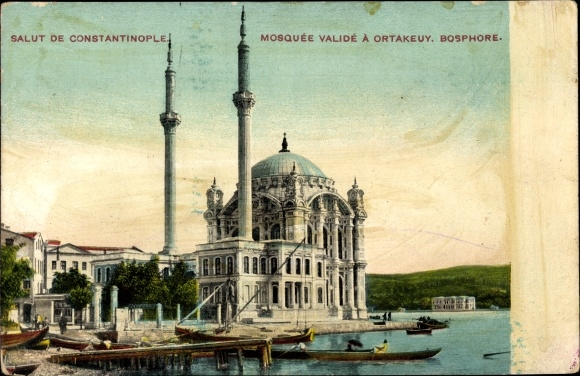 Ak Ortaköy Konstantinopel Istanbul Türkei, Mosquée Valide, Yeni Valide Moschee