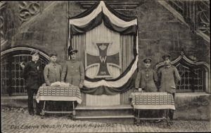 Ak Pößneck Thüringen, Das Eiserne Kreuz, August 1915, Nagelung