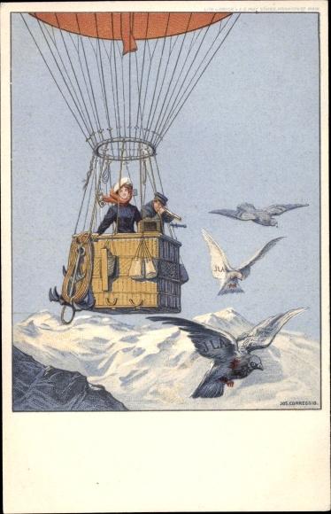 Ganzsachen Künstler Litho Corregio, Jos., Frankfurt am Main, ILA 1909, Offizielle Postkarte Nr 2