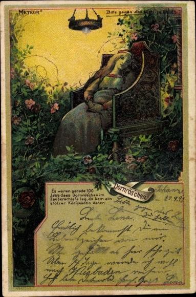 Haltgegendaslicht Litho Dornröschen, 100 Jahre Zauberschlaf, Meteor 16626