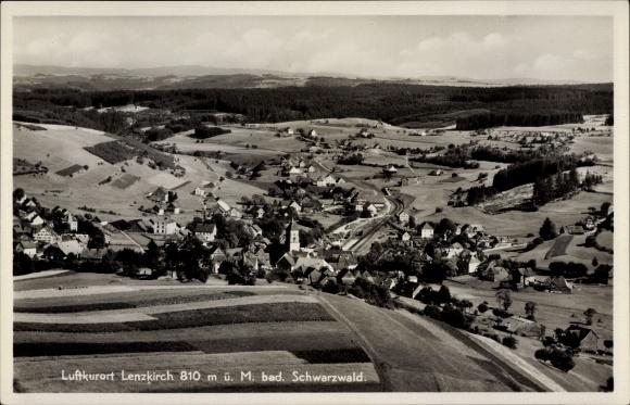Ak Hinterzarten im Südschwarzwald, Panorama vom Ort