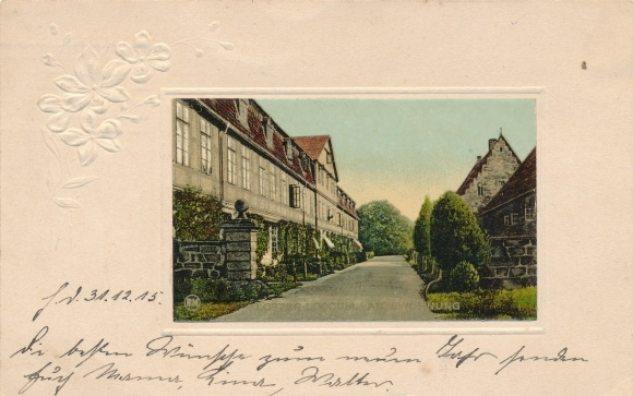 Präge Passepartout Ak Rehburg Loccum in Niedersachsen, Kloster Loccum, Abtswohnung