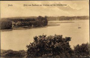 Ak Ferch Schwielowsee, Blick vom Gasthaus zur Erholung, Inh. C. Schmidt, auf den Schwielowsee