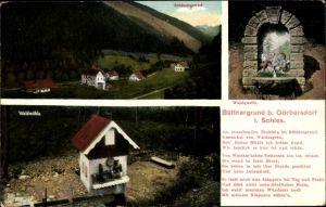 Ak Sokołowsko Görbersdorf Schlesien, Büttnergrund, Waldmühle