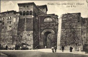 Ak Perugia Umbria, Porta Urbica Etrusca o d'Augusto