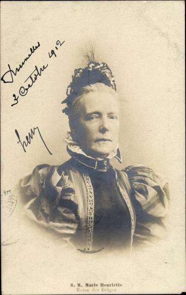 Ak Reine de Belgique, Marie Henriette von Österreich, Königin der Belgier