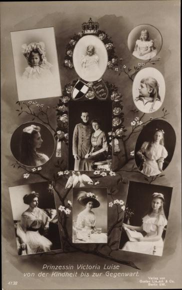 Ak Prinzessin Victoria Luise von Preußen, Herzog Ernst August von Braunschweig, Liersch 4138