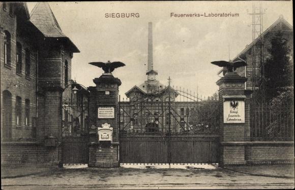 Ak Siegburg im Rhein Sieg Kreis, Feuerwerks Laboratorium