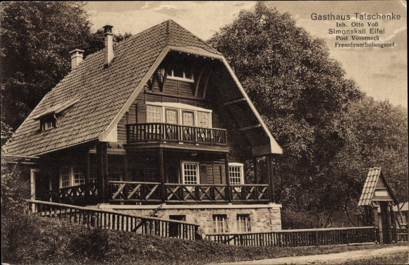 Ak Simonskall Hürtgenwald in Nordrhein Westfalen, Gasthaus Talschenke, Inh. Otto Voß