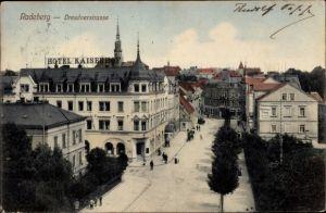 Ak Radeberg Sachsen, Dresdner Straße, Hotel Kaiserhof