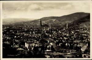 Ak Freiburg im Breisgau, Gesamtansicht, Münster