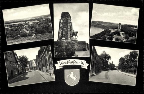 Ak Westhofen Schwerte im Ruhrgebiet, Ortsansicht