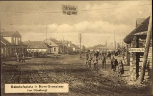 Ak Švenčionėliai Novo Svenziany Litauen, Bahnhofsplatz, I. WK