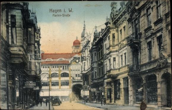 Ak Hagen in Westfalen, Marienstraße, Dt. Bekleidungsakademie Archimedes