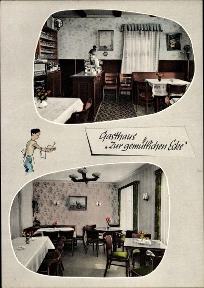 Ak Spieka Neufeld Wurster Nordseeküste, Gasthaus zur gemütlichen Ecke, C. H. Patjens, Inh. G. Maue