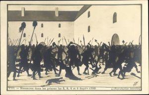 Künstler Ak Frankreich, Massacres dans les prisons Sept. 1792, Französische Revolution