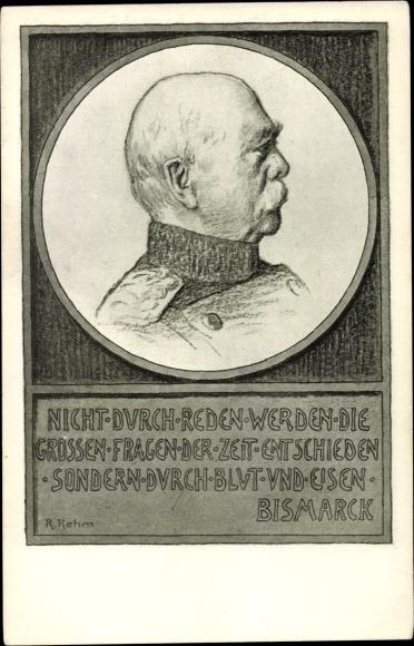 Künstler Ak Otto von Bismarck, Herzog zu Lauenburg, Bundeskanzler, Gedicht