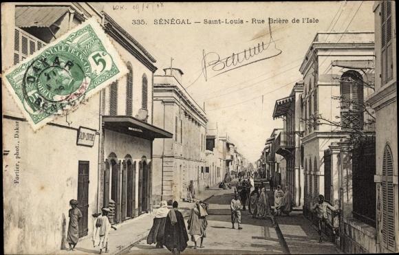 Ak Saint Louis Senegal, Rue Brière de l'Isle