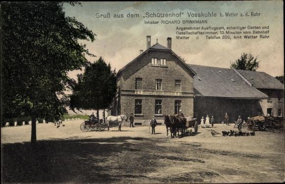 Ak Voßkuhle Wipperfürth Nordrhein Westfalen, Schützenhof, Inh. Richard Brinkmann