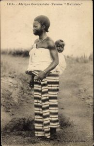 Ak Afrique occidentale francaise, Femme Malinkée
