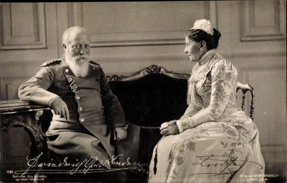 Ak Großherzog Friedrich I. von Baden, Luise von Preußen