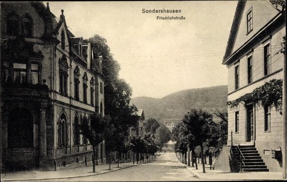 Ak Sondershausen im Kyffhäuserkreis Thüringen, Friedrichstraße