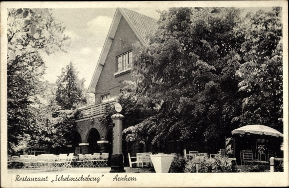Ak Arnhem Gelderland Niederlande, Restaurant Schelmschebrug