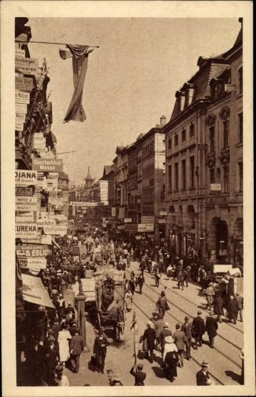 Ak Leipzig Sachsen, Neumarkt während der Leipziger Messe