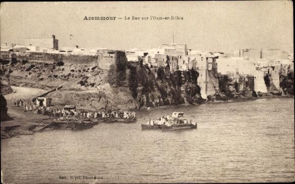 Ak Azemmour Marokko, Le Bac sur l'Oum er Rébia