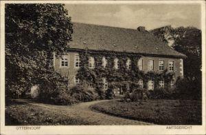 Ak Otterndorf in Niedersachsen, Amtsgericht, Gartenansicht