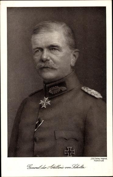 Ak General der Artillerie von Scholtz, Portrait