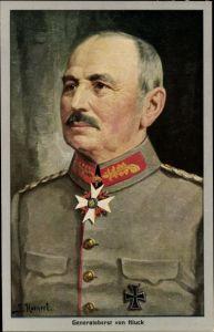 Künstler Ak Hornert, Generaloberst Alexander von Kluck, Portrait