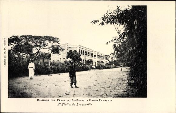 Ak Brazzaville Französisch Kongo, Missions des Peres du St. Esprit, L'Hopital