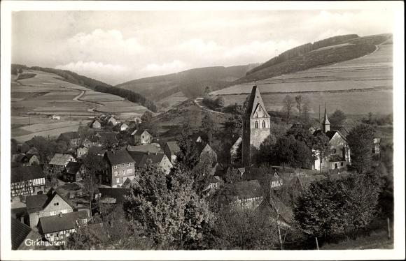 Ak Girkhausen Bad Berleburg in Westfalen, Sicht auf den Ort
