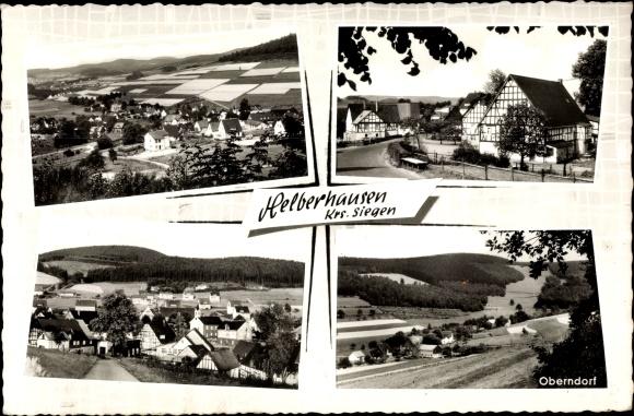 Ak Helberhausen Hilchenbach Nordrhein Westfalen, Sicht auf den Ort