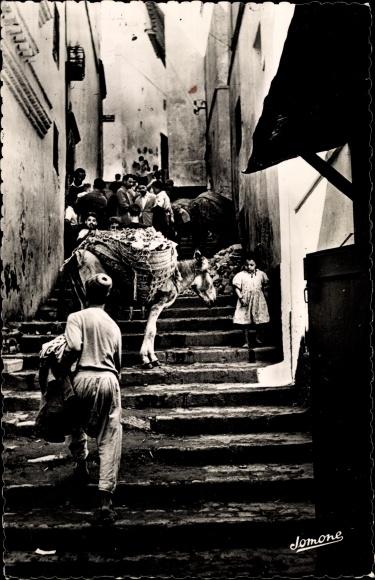 Ak Algier Alger Algerien, Scène dans la Casbah