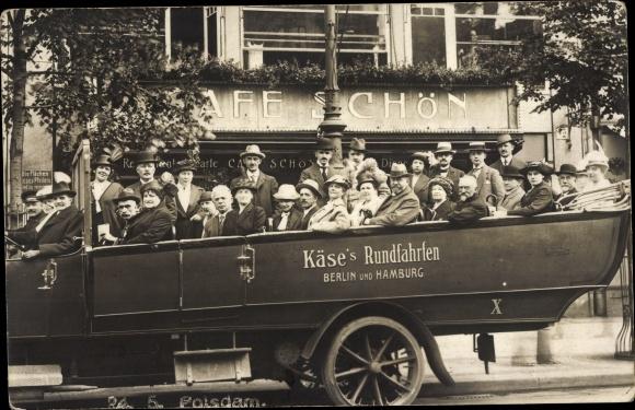 Foto Ak Käse's Rundfahrten, Berlin und Hamburg, Café Schön