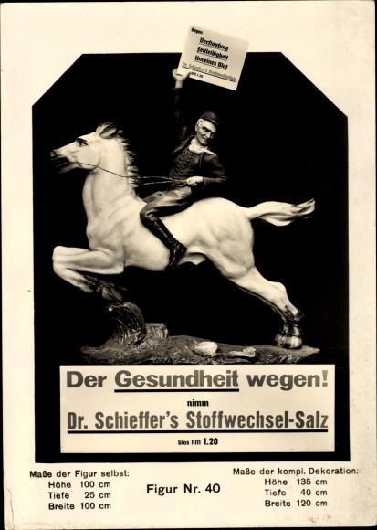 Ak Der Gesundheit wegen, Dr. Schieffer's Stoffwechsel Salz, Reklame, Figur