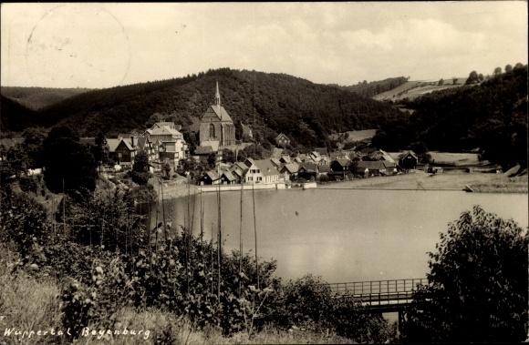Ak Langerfeld Beyenburg Wuppertal in Nordrhein Westfalen, Sicht auf den Ort