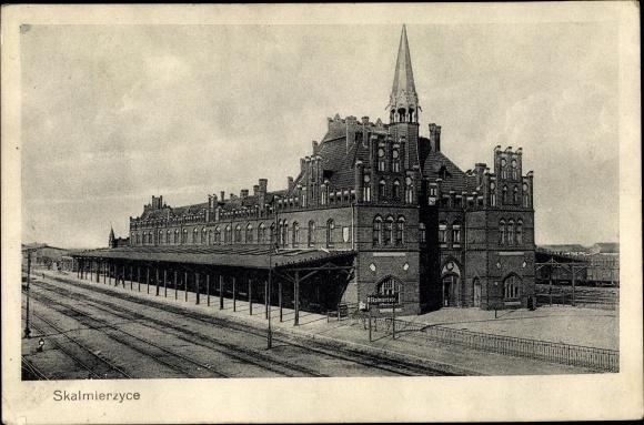 Ak Nowe Skalmierzyce Neu Skalmierschütz Poznań Posen, Bahnhof, Gleisseite