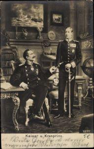 Künstler Ak Kaiser Wilhelm II. von Preußen, Kronprinz Wilhelm von Preußen, Liersch 7235